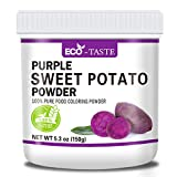 Natural Purple Sweet Potato Powder, Raw Powder for Food Coloring, Rich In Vitamins, Minerals and Amino Acids, No Fillers, No GMOs and Vegan Friendly (5.3 oz)