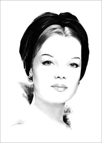 Posterlounge Acrylglasbild 30 x 40 cm: Hollywood-Diva – Romy Schneider von Dirk Richter - Wandbild, Acryl Glasbild, Druck auf Acryl Glas Bild