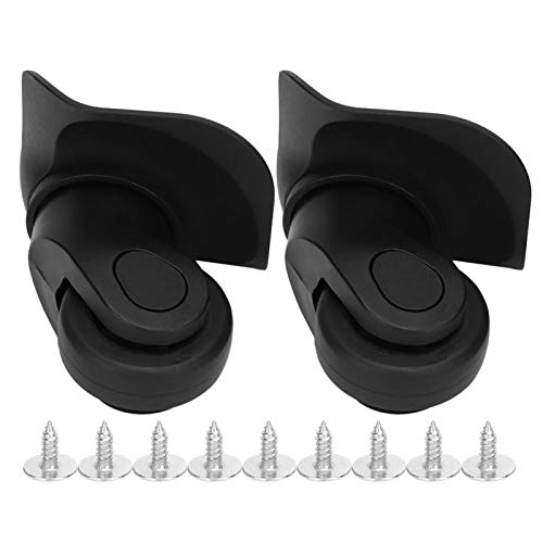XINMYD Luggage Mute Wheel,A Pair Black Suitcase Mute Single Row Wheel Universal Luggage Replacement Outdoor Supplies