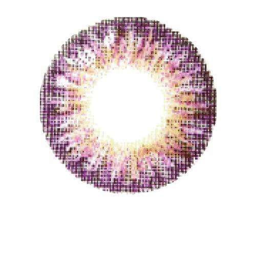Matlens - Pro Trend Farbige Kontaktlinsen ohne Stärke lila violet Big eyes TriColor World PDX-375 2 Linsen 1 Kontaktlinsenbehälter 1 Pflegemittel 50ml