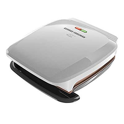 George Foreman GR260P 4 Serving Classic Plate Grill, Platinum