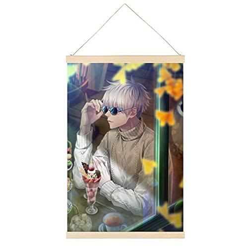 Jujutsu Kaisen Gocho Satoru Gafas de sol de cómic Art Anime Cartel de pintura percha marco para colgar carteles de pergamino lienzo decorativo pintura pared decoración habitación 24x36 pulgadas