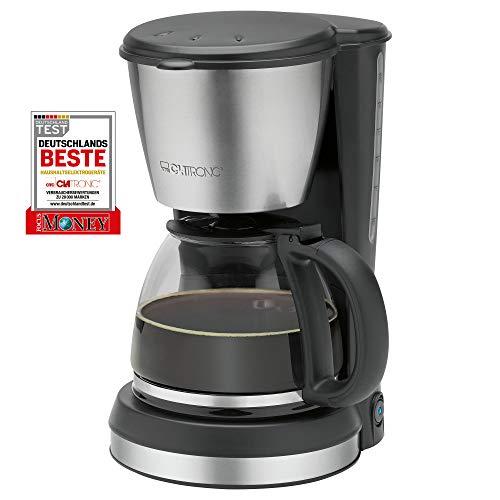 Clatronic KA 3562 ekspres do kawy, na 12-14 filiżanek kawy (ok. 1,5 litra), 900 W, wysokiej jakości aplikacje ze stali nierdzewnej, zabezpieczenie przed kapaniem