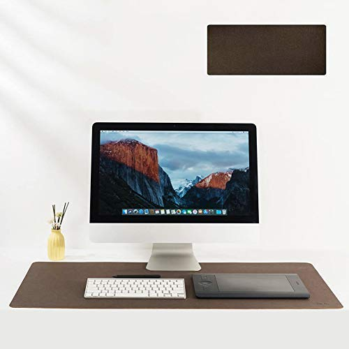 CHUTD Natural Cork Desk Pad,Large Office Mouse Mat,Woody Fragrance,Comfortable,Anti-fouling,Waterproof Desk Writing Mat Brown 31.5' x 11.8'