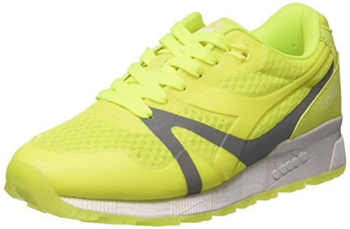 Diadora N9000 Mm Bright, Scarpe Low-Top Unisex-Adulto, Giallo (97009 Giallo Fluo), 44 EU