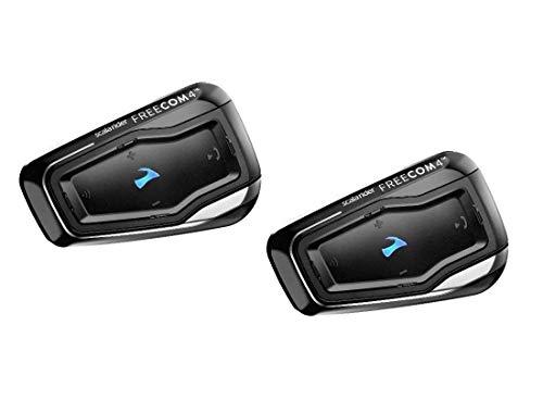 """Cardo FRC41103 Scala FREECOM 4-Bluetooth 4.1 Kommunikationssystem für Motorräder mit HD-Audio für Alleinfahrer  (Dual Pack) """"vom Hersteller eingestellt"""""""