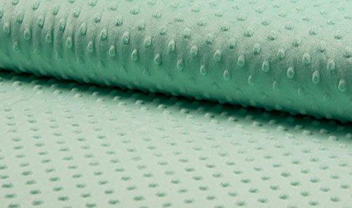 Supersoft Dimple DOT Cuddle en polaire douce - 150 cm Wide- Menthe (vendu au mètre)