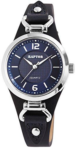 Raptor Classic Damen-Uhr Unterlegband Oberseite Echt Leder Analog Quarz RA10148