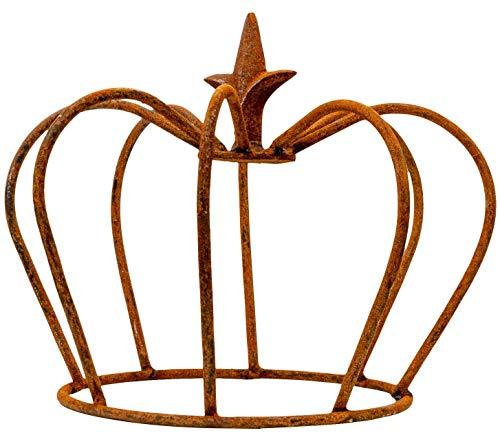 aubaho Crête Fer lis Jardin décoration Rouille Style Antique 24cm