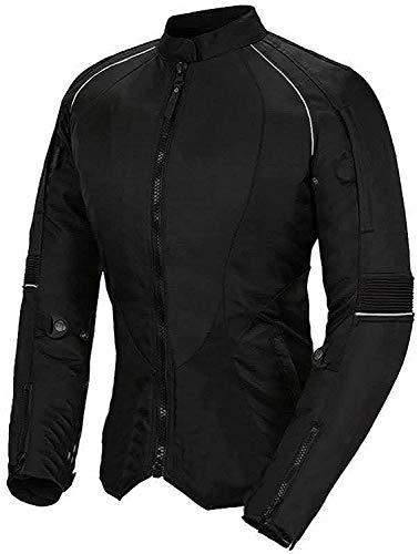 Newfacelook Damen Motorrad Motorrad jacke fraue wasserdichte Schutz XL, schwarz
