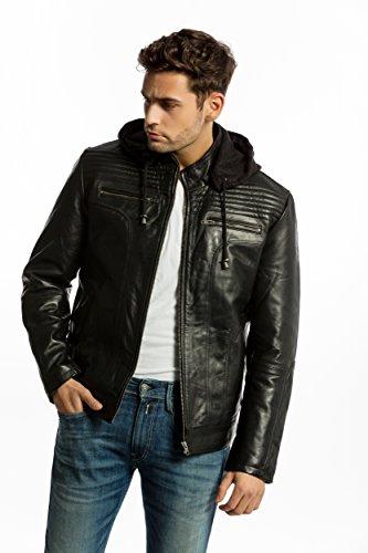 Urban Leather UR-70 G7 Chaqueta de Cueropara Caballero, Negro, Talla 4XL