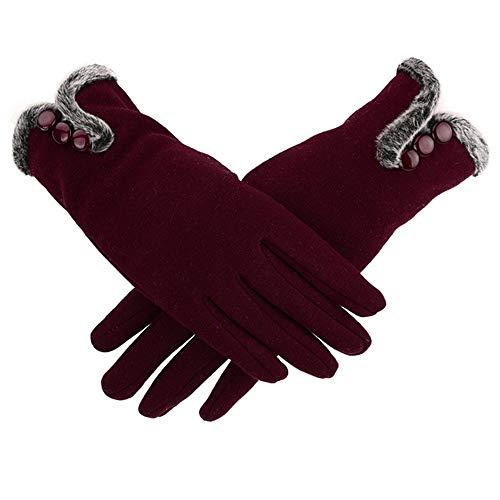 HYNL Guantes guantes hombres guantes cálidos elásticos