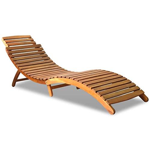 Chaise longue en acacia massif