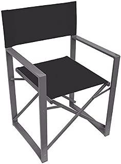 Yellowstone Vector Folding Director Chair Black