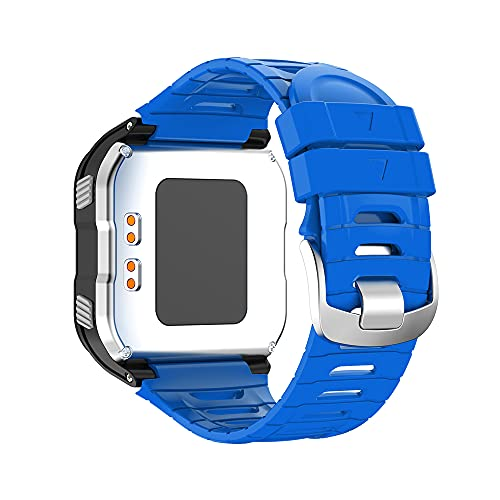 KINOEHOO Correas para relojes Compatible con Garmin Forerunner 920XT Pulseras de repuesto.Correas para relojesde silicona.(azul)