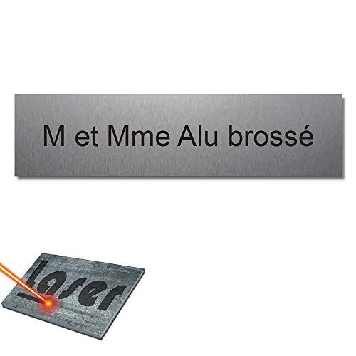 Mygoodprice - Placa grabada para el nombre del buzón de letras autoadhesiva, 10 x 2,5 cm, personalizada, 1 a 3 líneas