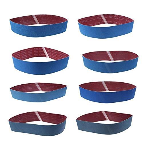 8 Stück Schleifbänder Bandschleifer Schleifband WCIC Aluminiumoxid Scharniere Körnung P80 P120 P150 P180 P240 P320 P800 P1000 100X915mm