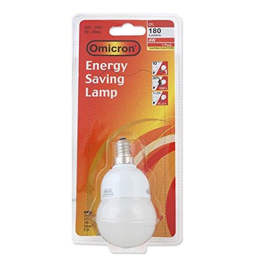 Omicron Ampoule compacte Fluorescente à Petit culot à vis Edison