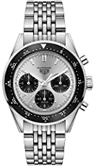 TAG Heuer Autavia Jack Heuer 85th Anniversary Limited Edition Men's Watch Special Engraving on Case Back, Limited Numbered XXXX/1932 Silver Dial with Black Subdials, Black Aluminum Bezel, Polished Stainless Steel Case and Bracelet Case Diameter: 42 m...