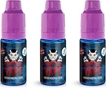 Heisenberg - Vampire Vape E-Liquide (3x10ml) Sans nicotine ni tabac