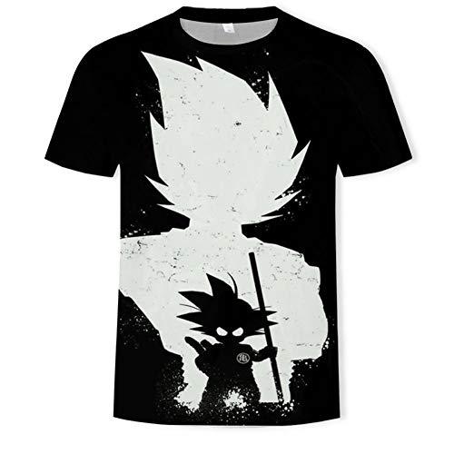 XIAOHU Camisetas 3D Manga Dragon Ball Ultra Instinct Super Saiyan T-Shirt Hombres Summer...