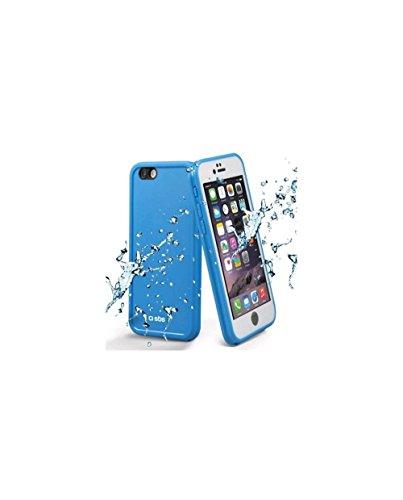 SBS Custodia impermeabile semi-rigida per iPhone 6S e 6 con screen protector, certificazione IPX4 resiste a urti, graffi e schizzi d'acqua, blu
