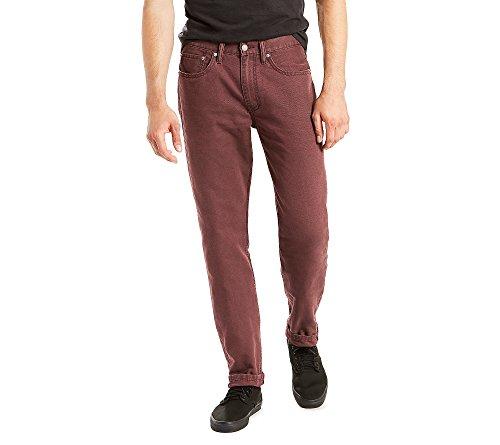 Levi's Men's 514 Straight Fit Stretch Jeans - 34W x 30L - Wine Tasting/Padox Canvas