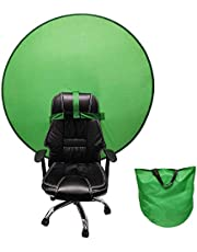 Green Screen Backdro-2 en 1 Panel de Fondo Reversible Plegable Pantalla de Fondo de Fondo Verde Azul portátil 4.65ft, para Photo Video Studio (Verde único)