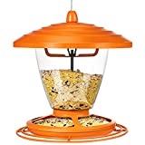 GIASTEN Wild Bird Feeder for Outdoors Hanging, 2.2lb Metal Bird Feeder...