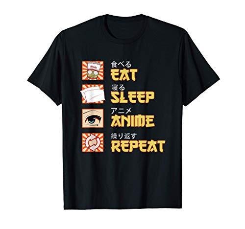 Japanese Anime & Manga Eat Sleep Anime Repeat Gift T-Shirt