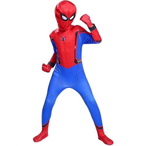 YUNMO Traje de Spider-Man Traje de Spiderman Rojo - Unisex Segunda Ropa de Piel Outfit Halloween (Tamao : 110)