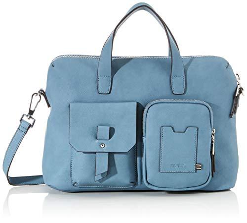 Esprit Accessoires Damen 020EA1O304 Henkeltasche, Blau (Blau 440), 26x35x11