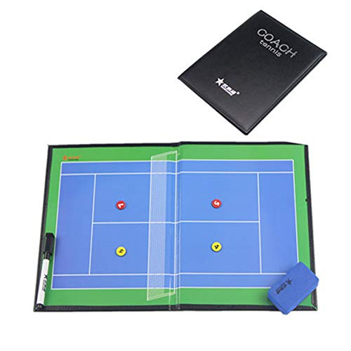 IYBY Faltbares Magnetisches Tennis-Taktik-Brett-Trainer-Brett - Wiederbeschreibbar - Einfach Zu Tragen Und Wiederzuverwenden Green