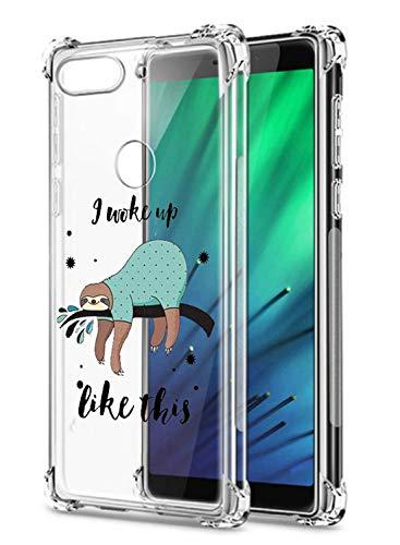 Oihxse Transparent Silicone Mignon Case Compatible pour Xiaomi Redmi 6 Pro Coque TPU Souple Ultra Mince Housse Clear Crystal Design Motif Anti-Scrach Protection Etui Bumper (A15)