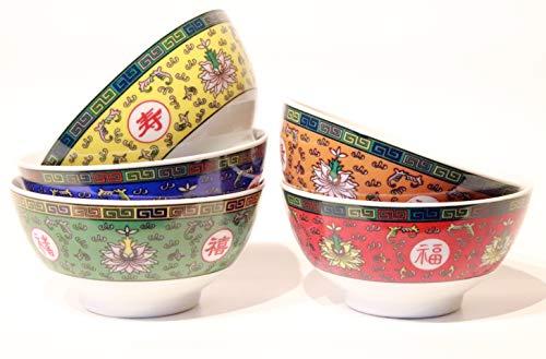 Menukonzept Schalen Set 5-teilig Asia bunt Reisschale Nudel Suppen Schüssel chinesisch