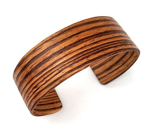 Armband aus Holz-Edelholz-Zebrano