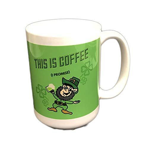 """Kaffeebecher mit Aufschrift """"This is Coffee I Promise"""" (englischsprachig), für Kaffee/Tee/Getränke, Grün"""