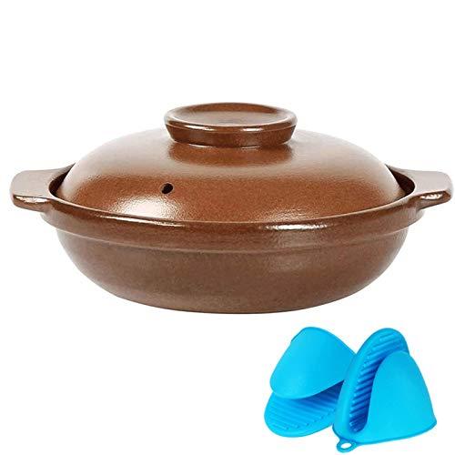 Olla saludable Cocinando Maceta Cacerolas Casa sostenida Sopa Casserole Cerámica Cerámica Stef Pot Temperatura Alta Temperatura RESISTADA UTILIZADA PARA LLANTAS ABIERTAS SOCIONES DE GAS STOVES ELÉCTRI