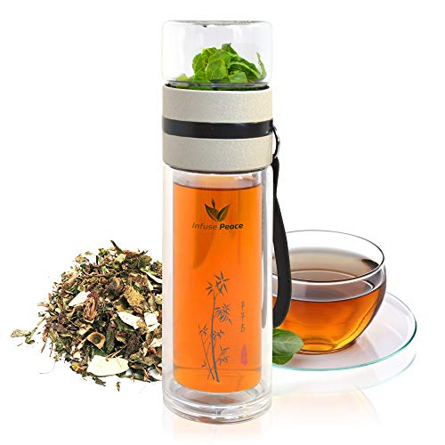 Double-Layer Glass Tea Infuser With Stainless Steel Filter.