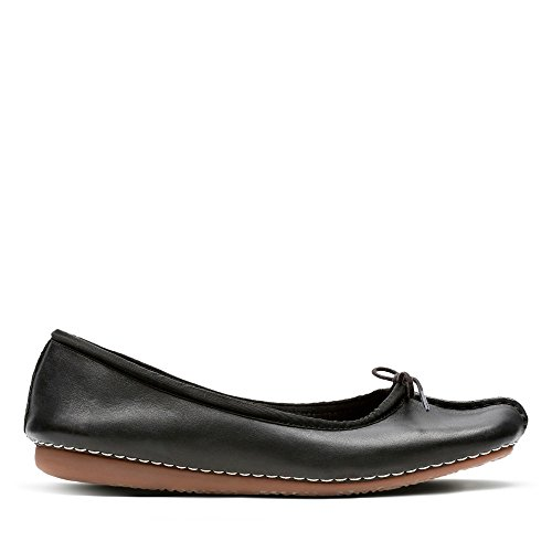 Clarks Damen Freckle Ice Mokassin, Schwarz (Black Leather), 38 EU