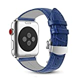 FOUUA Compatibile for Cinturino Apple Watch 44mm 42mm 40mm 38mm Cinturino di Ricambio Cinturino in Pelle Morbida Compatibile per iWatch Serie 4 Serie 3 Serie 2 Serie 1
