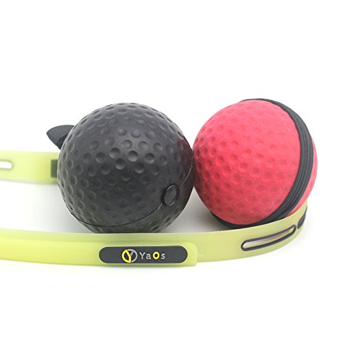 Boxing Reflex Ball, Light, Soft, High, Unique and Improved Headband Technology, 2 Balls, 2 Level of Difficulty, Perfect for Fitness, Cardio Training Used by Professional MMA, UFC and Boxing fighters