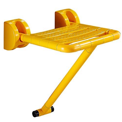 Badezimmer-Fluoreszenz-Wand-Duschsitz-Hocker, Duschhocker, faltender Duschsitz mit Beinen, Wand-faltender Duschsitz, gelb