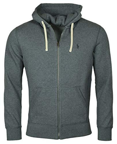 Polo Ralph Lauren Classic Full-Zip Fleece Hooded Sweatshirt - S - Darkgrey