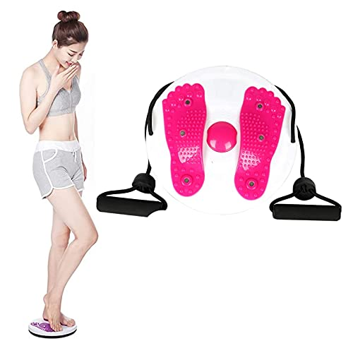 KKDS Exercise Twist Board Twisting Waist Disc, Body Shaping Tisting The Waist Dish Female Body Equipment,Shaping Rotating Balance Board,Foot Massage,Slim (Rosso)