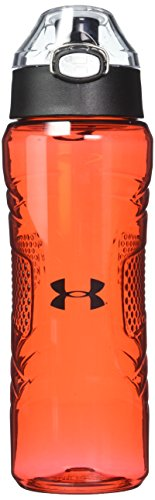 Under Armour Draft 24 Ounce Tritan Hydration Bottle with Push Button Top, Red
