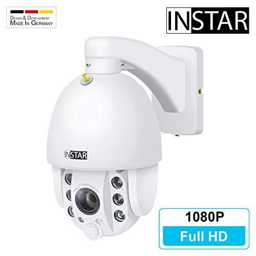 INSTAR IN-9020 Full HD Weiss - wetterfeste Überwachungskamera – LAN - WLAN IP Kamera - Aussen - Außenkamera - PTZ – 4X Zoom - steuerbar - Infrarot Nachtsicht - ONVIF - PIR - Audio - RTSP - Mikrofon