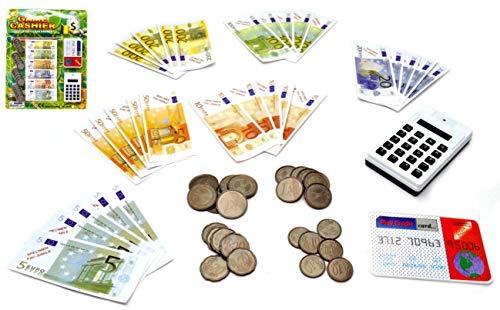 VENTURA TRADING Euro Dinero de Juego Juego de Dinero de Juguete Juego de enseñanza de Dinero Juego en Efectivo
