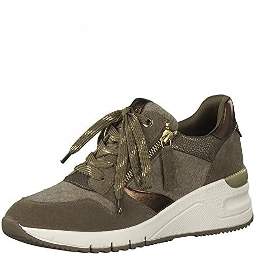Tamaris Mujer Zapatillas, señora Bajo,Plantilla Desmontable,Comfort Lining,Zapatillas de Deporte,Zapatos Informales,Pepper FLT COM,40 EU / 6.5 UK