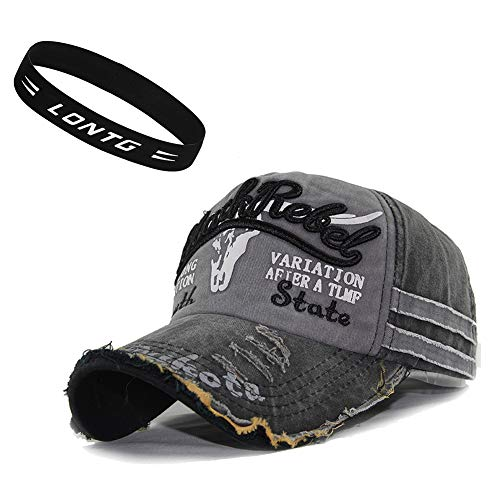 Unisex Gorra de béisbol Vintage Jeans sombrero de golf sol playa algodón ajustable Gorra Visera anti-UV protección solar cap hip-hop Mode snapback Sport bordado letras para hombre Mujer